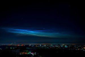 Сріблясті хмари над Орландо, США Сформувалися через 3 години після запуску РН Falcon 9