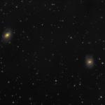Галактики М96 і М95 в у сузір'ї Лев (березень 2018)