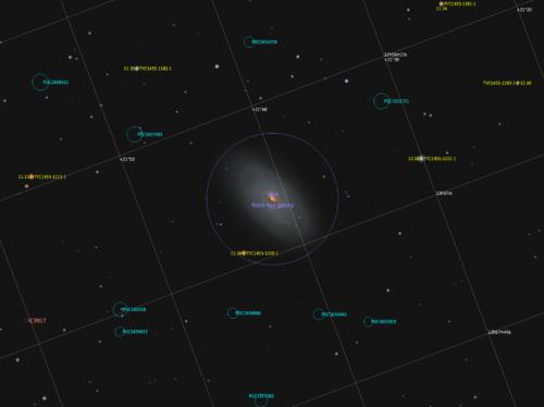 Галактика М64 з антоацією