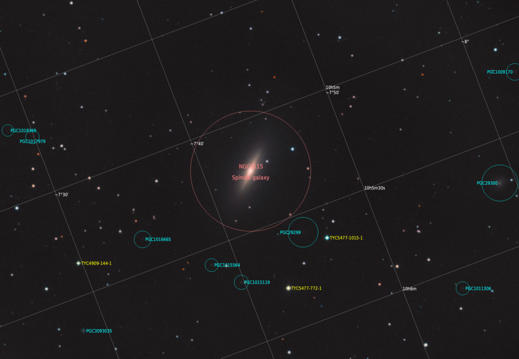NGC3115 з анотацією
