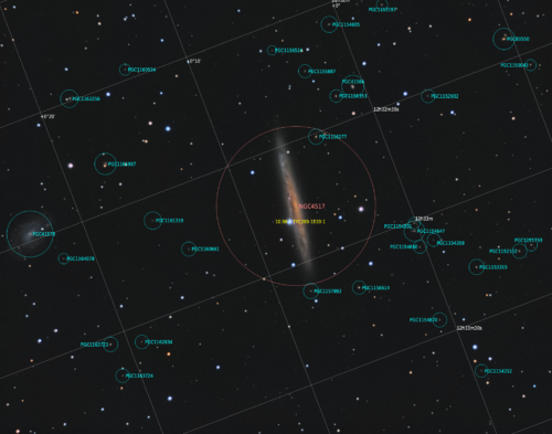NGC 4517 з анотацією