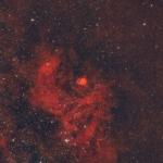Sh2-54 – емісійна туманність в сузір'ї Змії